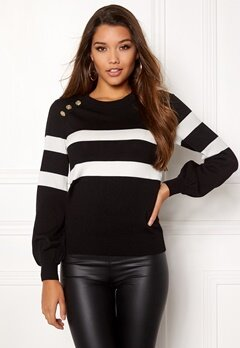 Happy Holly Sasha sweater Black Bubbleroom.fi