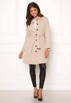 Happy Holly Scarlett coat Light beige Bubbleroom.fi