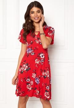 Happy Holly Scarlett dress Red / Patterned Bubbleroom.fi
