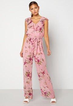 Happy Holly Scarlett Jumpsuit Pink / Floral Bubbleroom.fi