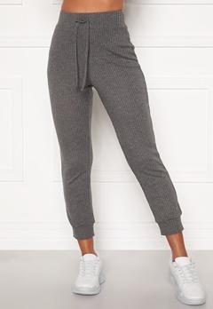 Happy Holly Selena cosy pants Grey melange Bubbleroom.fi