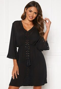 Happy Holly Sienna beach tunic Black Bubbleroom.fi
