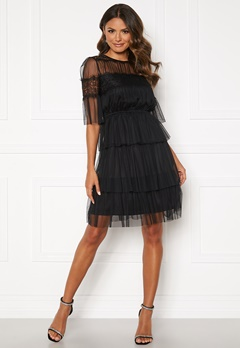 Happy Holly Smilla mesh dress Black Bubbleroom.fi