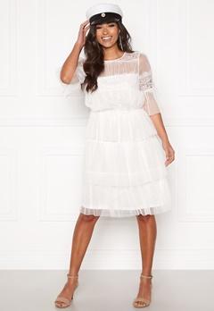 Happy Holly Smilla mesh dress White Bubbleroom.fi
