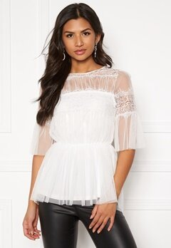 Happy Holly Smilla mesh top  White Bubbleroom.fi