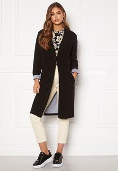 Happy Holly Stefanie tricot coat Black Bubbleroom.fi