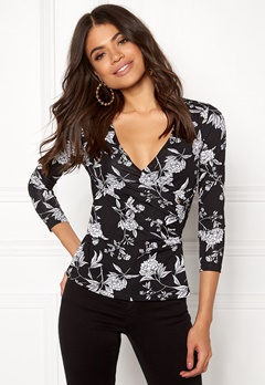 Happy Holly Stella top Black / Patterned Bubbleroom.fi