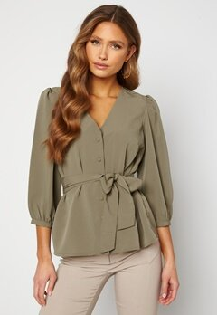 Happy Holly Suzanne blouse  Dusty green Bubbleroom.fi