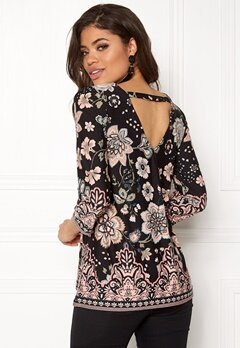Happy Holly Taylor top Black / Patterned Bubbleroom.fi