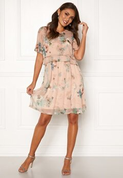Happy Holly Teodora occasion dress Dusty pink / Patterned Bubbleroom.fi