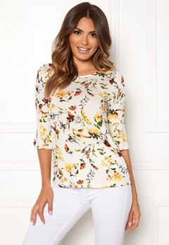 Happy Holly Tereza top Offwhite / Patterned Bubbleroom.fi