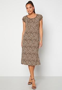 Happy Holly Tessan midi dress Leopard bubbleroom.fi