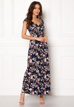 Happy Holly Tessie maxi dress Blue / Patterned Bubbleroom.fi