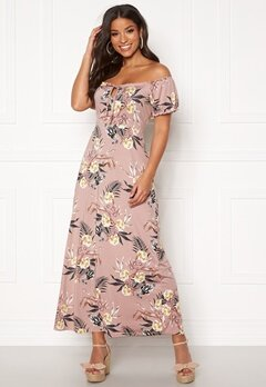Happy Holly Tessie maxi dress Dusty pink / Patterned Bubbleroom.fi
