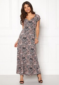 Happy Holly Tessie maxi dress Pink / Patterned Bubbleroom.fi