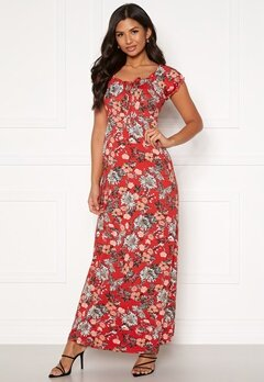 Happy Holly Tessie maxi dress Red / Patterned Bubbleroom.fi