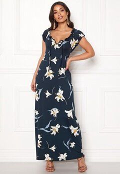 Happy Holly Tessie maxi dress Dark blue / Patterned Bubbleroom.fi