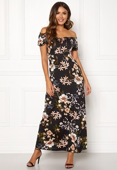 Happy Holly Tessie maxi dress Black / Patterned Bubbleroom.fi