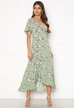 Happy Holly Therese dress Dusty green / Floral Bubbleroom.fi