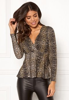 Happy Holly Therese top Leopard Bubbleroom.fi