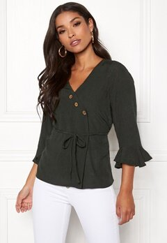 Happy Holly Tilly blouse Khaki green Bubbleroom.fi