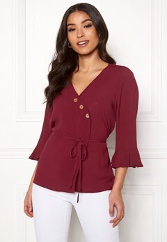 Happy Holly Tilly blouse Brick-red Bubbleroom.fi