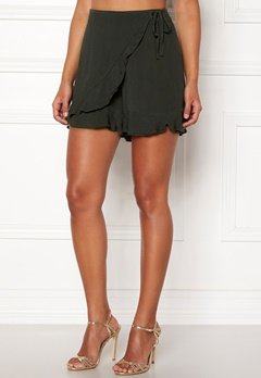 Happy Holly Tilly frill shorts Khaki green Bubbleroom.fi
