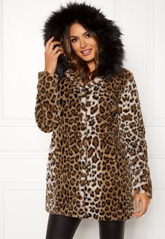 Happy Holly Trinny faux fur coat Leopard Bubbleroom.fi