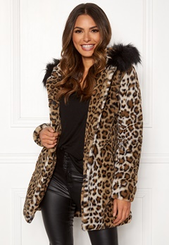 Happy Holly Trinny coat Leopard Bubbleroom.fi