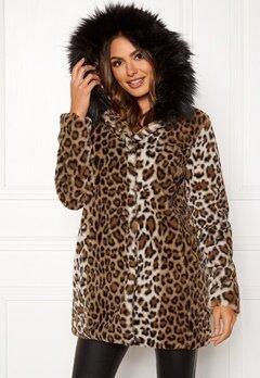 Happy Holly Trinny faux fur coat Leopard Bubbleroom.fi