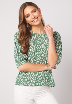 Happy Holly Tris blouse Green / Patterned Bubbleroom.fi