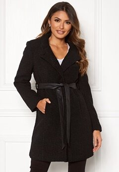 Happy Holly Tuva wool coat Black Bubbleroom.fi