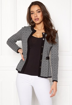 Happy Holly Tyra cardigan Black / Offwhite Bubbleroom.fi