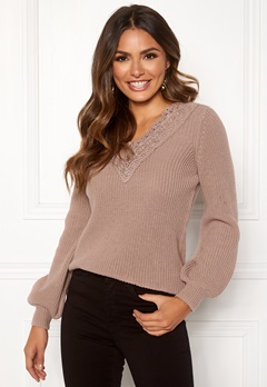 Happy Holly Wendy lace sweater Dusty pink Bubbleroom.fi