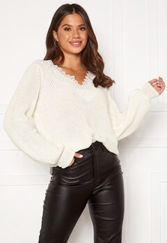Happy Holly Wendy lace sweater Offwhite Bubbleroom.fi