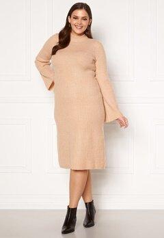 Happy Holly Winnie sweater dress Beige melange Bubbleroom.fi