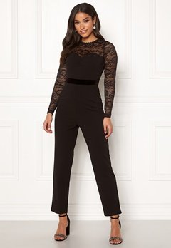 Happy Holly Anna lace tricot jumpsuit Black Bubbleroom.fi