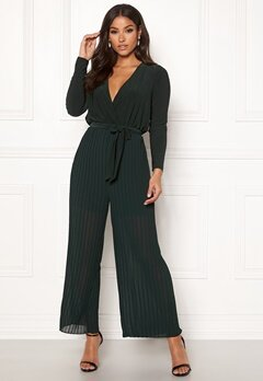 Happy Holly Bianca pleated jumpsuit Dark green Bubbleroom.fi