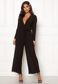 Happy Holly Bianca pleated jumpsuit Black Bubbleroom.fi