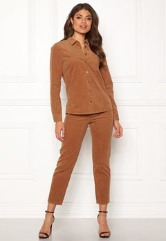 Happy Holly Maja cord pants Light brown Bubbleroom.fi