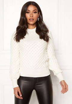 Happy Holly Mathilda bubble sweater Offwhite Bubbleroom.fi