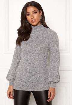 Happy Holly Miranda cosy top Grey melange Bubbleroom.fi