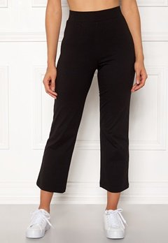Happy Holly Maisie tricot pants Black Bubbleroom.fi