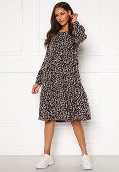 Happy Holly Liz flounce dress Leopard Bubbleroom.fi