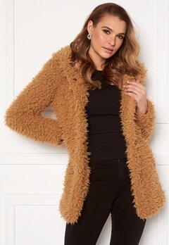 Happy Holly Jenny fur coat Camel Bubbleroom.fi