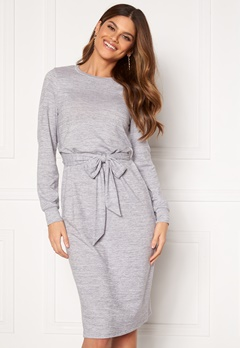 Happy Holly Beatrix midi dress Grey melange Bubbleroom.fi