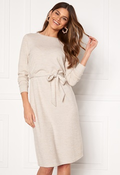 Happy Holly Beatrix midi dress Beige melange Bubbleroom.fi
