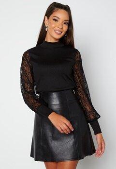 Happy Holly Elena lace sweater  Black bubbleroom.fi