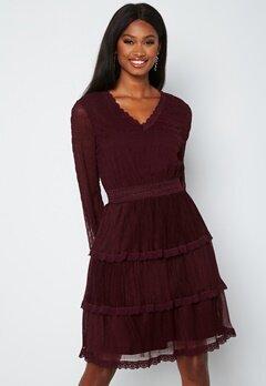 Happy Holly Alice Lace Dress Dark wine-red bubbleroom.fi
