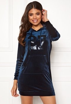 Happy Holly Kaylee velour hoody Dark blue Bubbleroom.fi